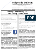 2013-02-17 - 1st Lent Year C