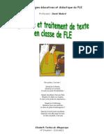 Ecrit Et Trait Texte en Cl de Fle