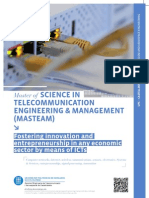 Master of Science in Telecommunication Engineering & Management (MASTEAM)
