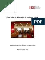 Plano Anual de Actividades Da Biblioteca Escolar 2012-2013