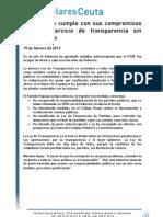 Nota Prensa El Gobierno Hace Un Ejercicio de Transparencia Sin Precedentes - PP Ceuta