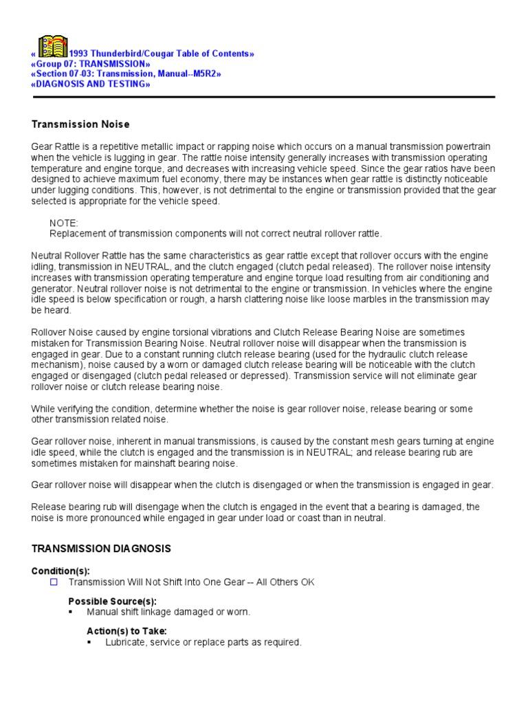 Transmission Noise   Transmission (Mechanics)   Clutch