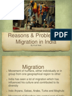 Reasons and Problems of Migration in India