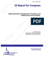 Methamphetamine-Background, Prevalence, And Federal Drug Control Policies
