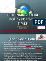 Rethinking Social Policy for 'New Times'