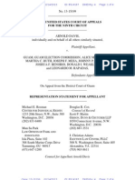 Attorney Representation Statement Davis v Guam