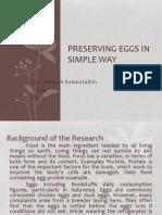 Preserving Eggs in Simple Way