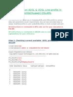ADSL Profile Change