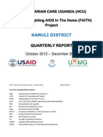 Humanitarian Care Uganda (Hcu) Kamuli District Quarterly Report