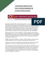PNB capital services