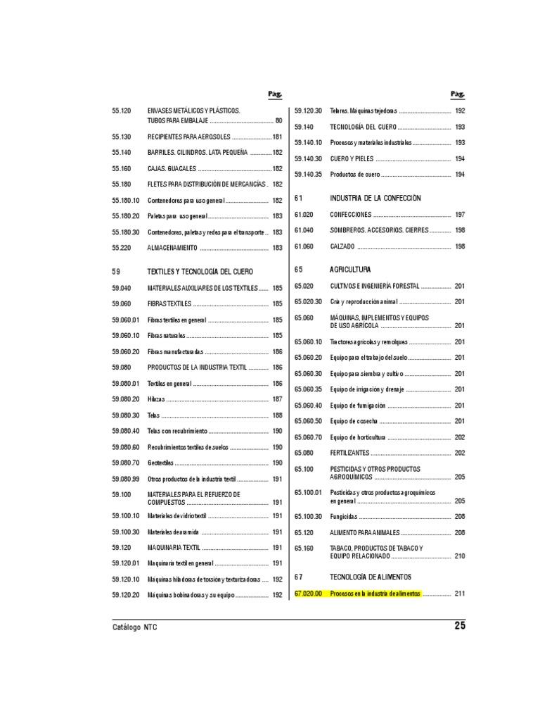 Catalogo de Normas NTC