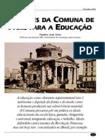 As licoes da Comuna de Paris para a Educaçao