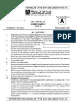 SCRA Paper 3 (Maths)