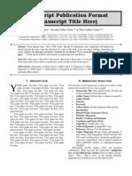 The Standard International Journals (The SIJ) - Manuscript Publication Format