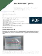 Instalando Windows Server 2008 - (Pt-br)
