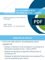 Post Partum Family Planning/Planification Familiale du Post – partum