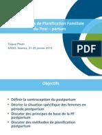Post Partum Family Planning/Planification Familiale du Post – partum