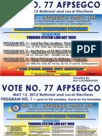 Vote No. 77 AFPSEGCO