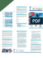 I Encuentro Regional de Lenguas - Plegable