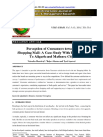 consumer perception towards shopping mall