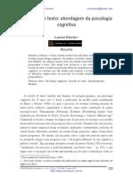 A revisão de texto - abordagem da psicologia cognitiva