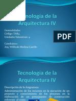 Tecnología de la Arquitectura IV clase No 1