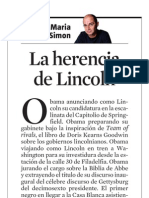 Josep Maria Ruiz Simon. La Herencia de Lincoln
