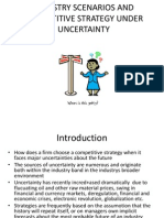 Industry Scenarios and Competitive Strategy Under Uncertainty