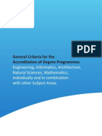 ASIIN General Criteria for the Accrediation of Degree Programmes 2012-06-28