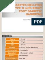 DM Type 2 With Gangrene-Agustania