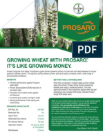 2012 Prosaro® Wheat Product Bulletin