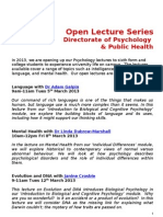 Open Lecture Series