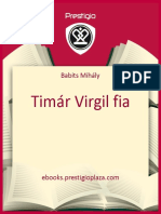 Classical Prose.babits Mihaly.timar Virgil Fia