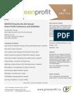On the Agenda - GreenProfit 2013