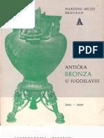 POPOVIĆ, Lj. B. & MANO-ZISI, D. & VELIĆKOVIĆ, M. & JELIĆIĆ, B. - Antička Bronza U Jugoslaviji