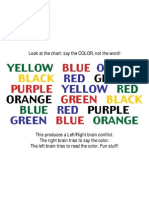 Brain Teaser Color Chart