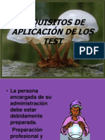 Requisitos de Aplicacion de Los Test
