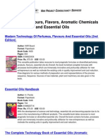 [NIIR]_Books-Perfumes, Flavours, Flavors, Aromatic Chemicals and Essential Oils