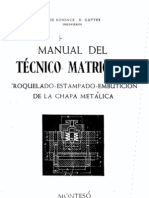 Manual Tecnico Del Matricero