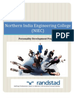 Randstad India Soft Skills Training Proposal for the NIEC-Delhi as on 24th December 2012