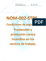 Manual NOM-002-STPS Prevencion y Proteccion Contra Incendios