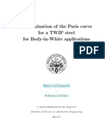 Determination of the Paris curve