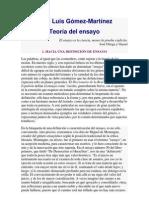 José Luis Gómez - Teoria del ensayo