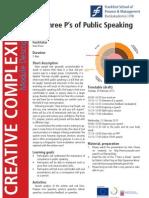 The Three P's of Public Speaking