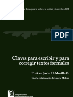 Claves para escribir y corregir textos formales. Javier H. Murillo O..pdf