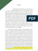 Final Paper- Poetic translation