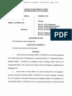 Indictment charges against Jesse Jackson Jr.