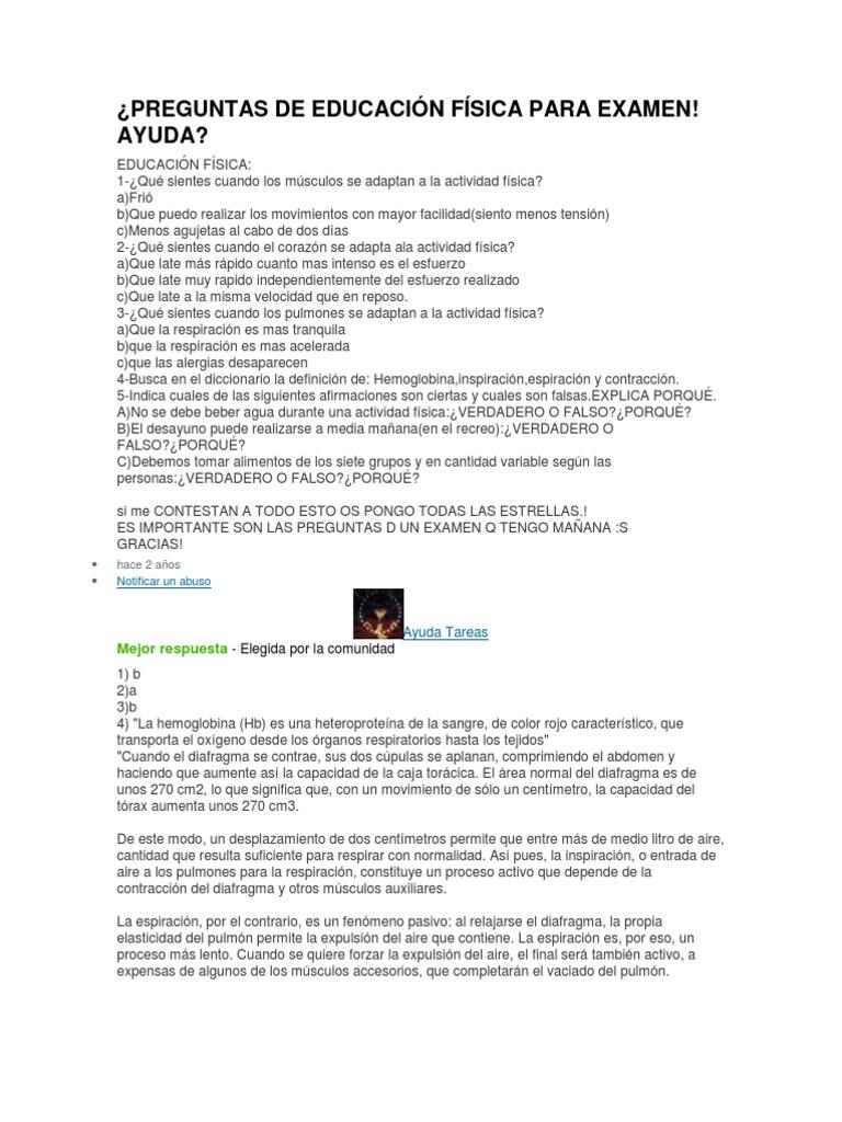 e538f672c583 PREGUNTAS DE EDUCACIÓN FÍSICA PARA EXAMEN