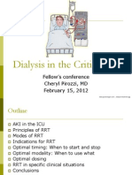 Dialysis in Critically Ill
