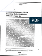 Chapter 5 Force and Diplomacy NATO Bombing Ends the Western Offensive Heats Up